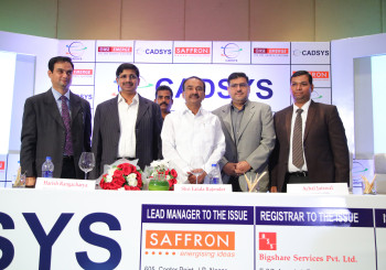 Cadsys (India) Limited has successfully completed its Initial Public Offer and is  listed on National Stock Exchange EMERGE