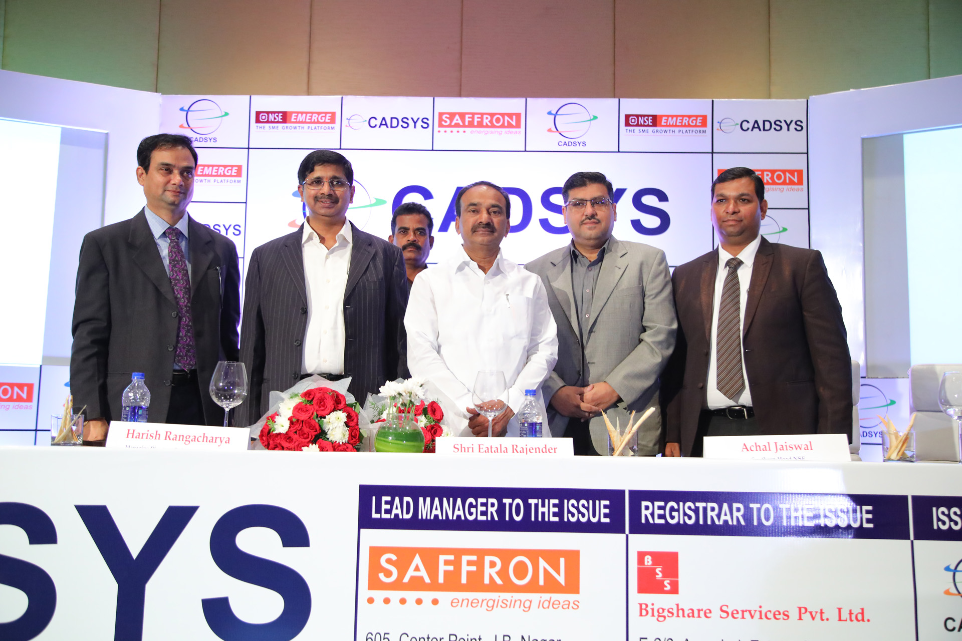 Cadsys (India) Limited has successfully completed its Initial Public Offer and is listed on National Stock Exchange EMERGE. On October 4th, 2017, the Company hosted its Listing Ceremony marking trading of the shares on the NSE EMERGE platform.